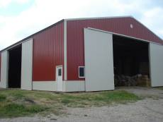 Hay barn storing square bales